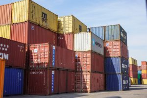 shipping containers 156